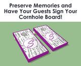 Wedding Signature Cornhole Boards