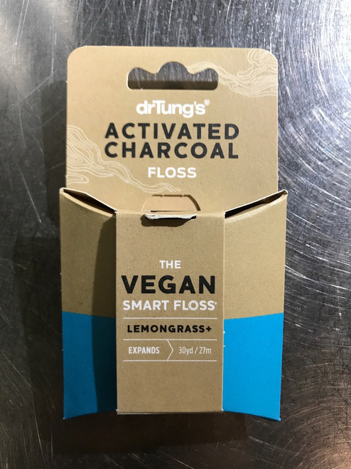 Dr. Tung's Activated Charcoal Floss, Vegan with Lemongrass
