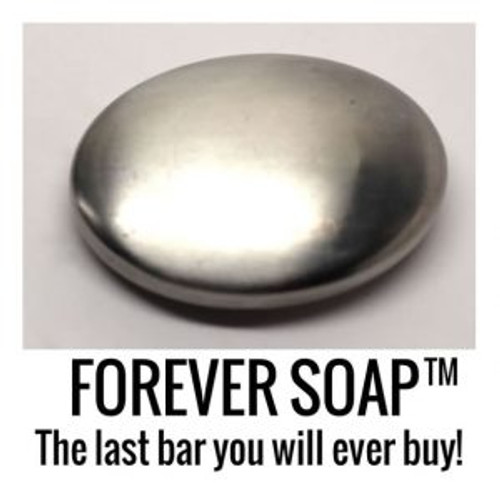 Forever Soap™ by ToothSoap.com, 100% stainless steel odor removing bar that lasts forever.