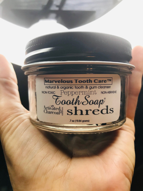 Shred Tooth Soap® with Activated Charcoal - ECO Packaging Peppermint