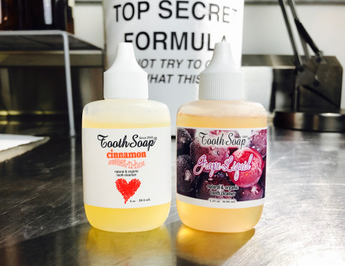 Tooth Soap® Liquid Squeeze Naturally Flavored No Essential Oils