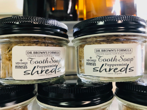 NEW! Tooth Soap® Shreds + Super-Charged Minerals Eco Mason Jar