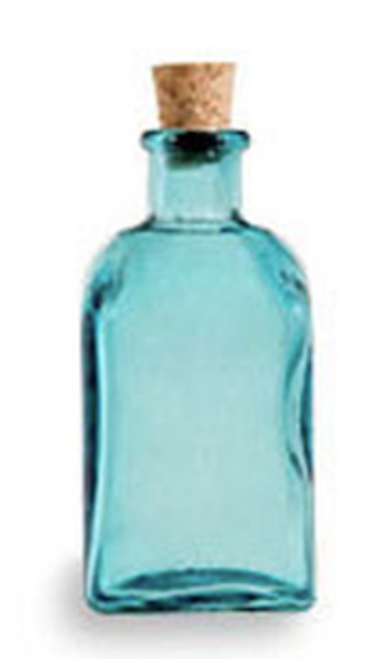 PEPPERMINT TOOTH BRIGHTENER™ IN THE BLUE RECYCLED SPANISH GLASS BOTTLE