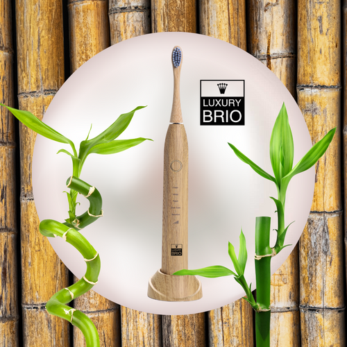 Bamboo Sonic Tooth Brush by Luxury Brio™