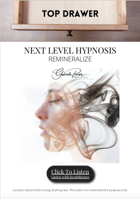 Hypnosis to remineralize teeth.