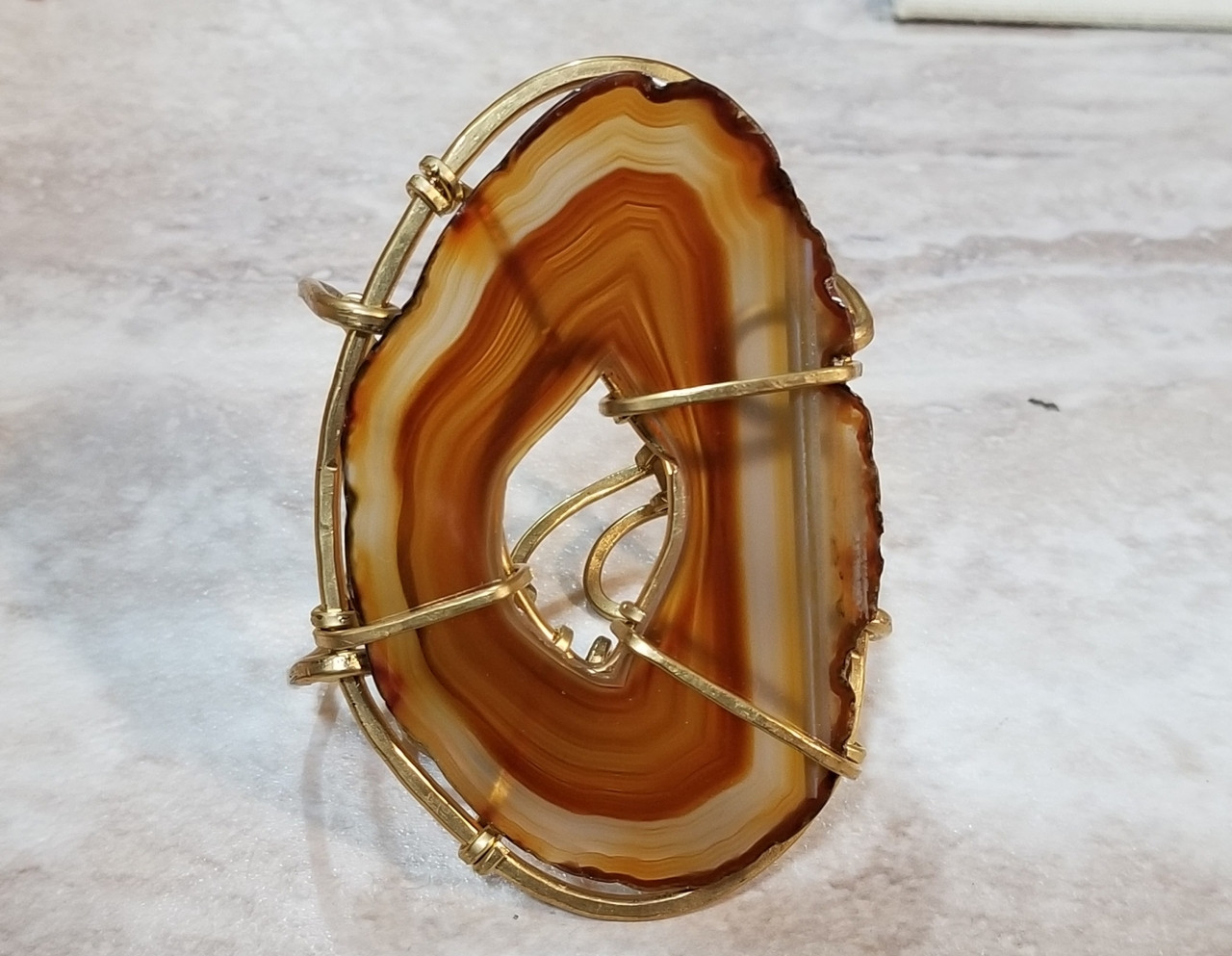 Brown Agate Cuff