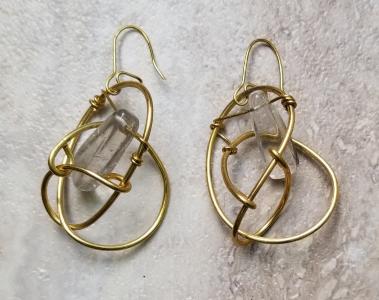 Quartz Galaxy Earrings