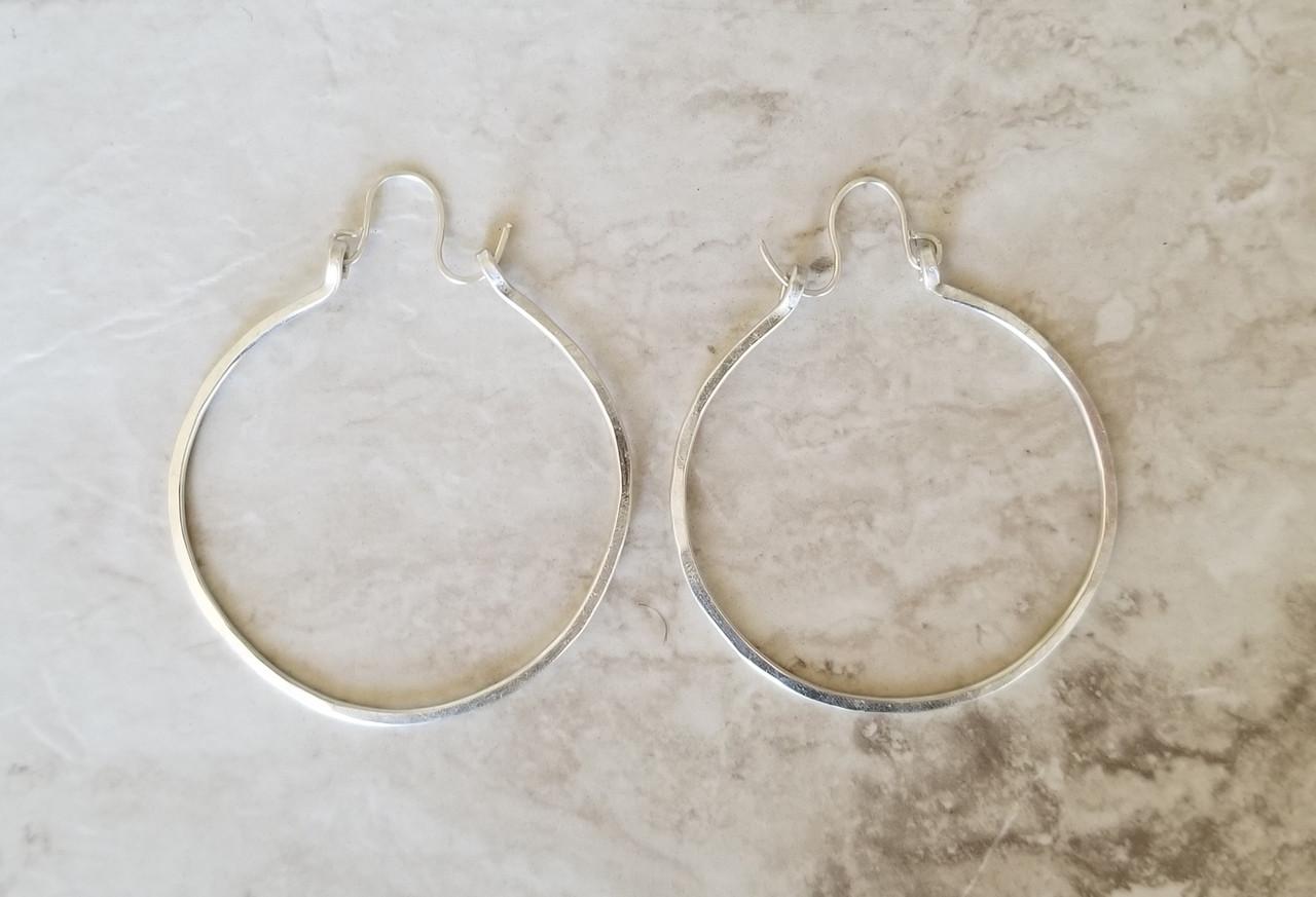 Silver Hoops sm