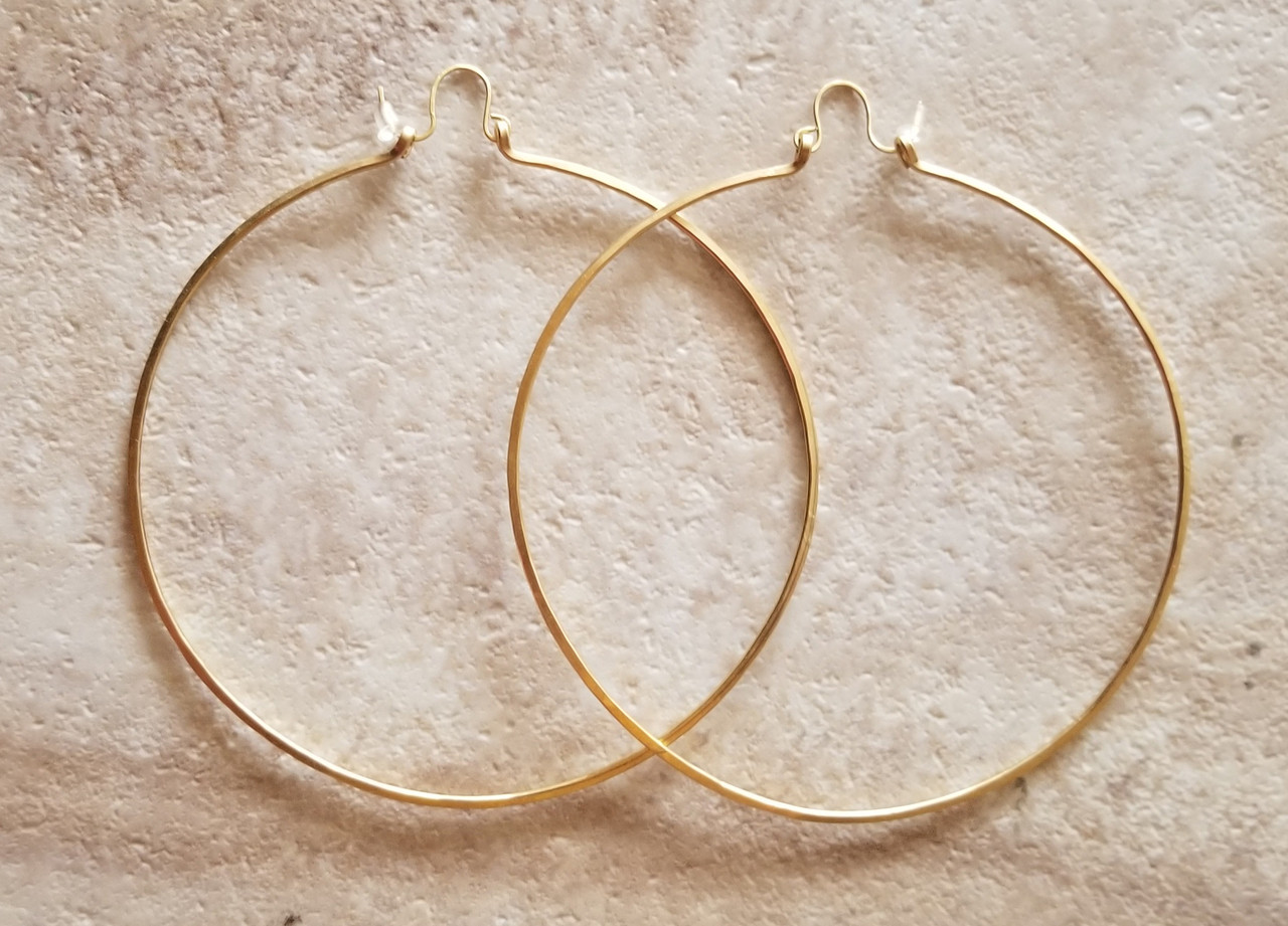 Bronze Hoops XL