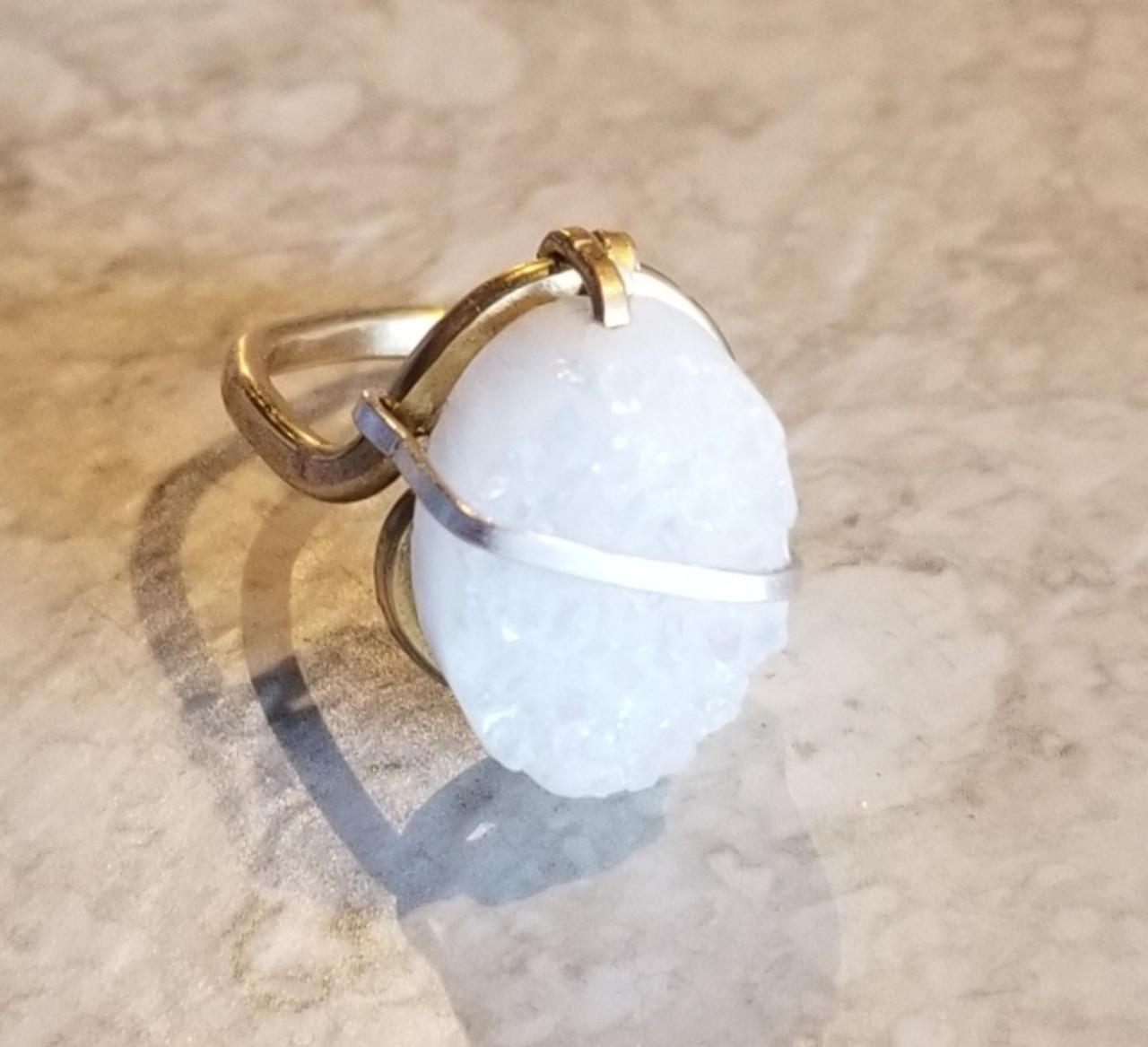 Druzy Oval  Ring