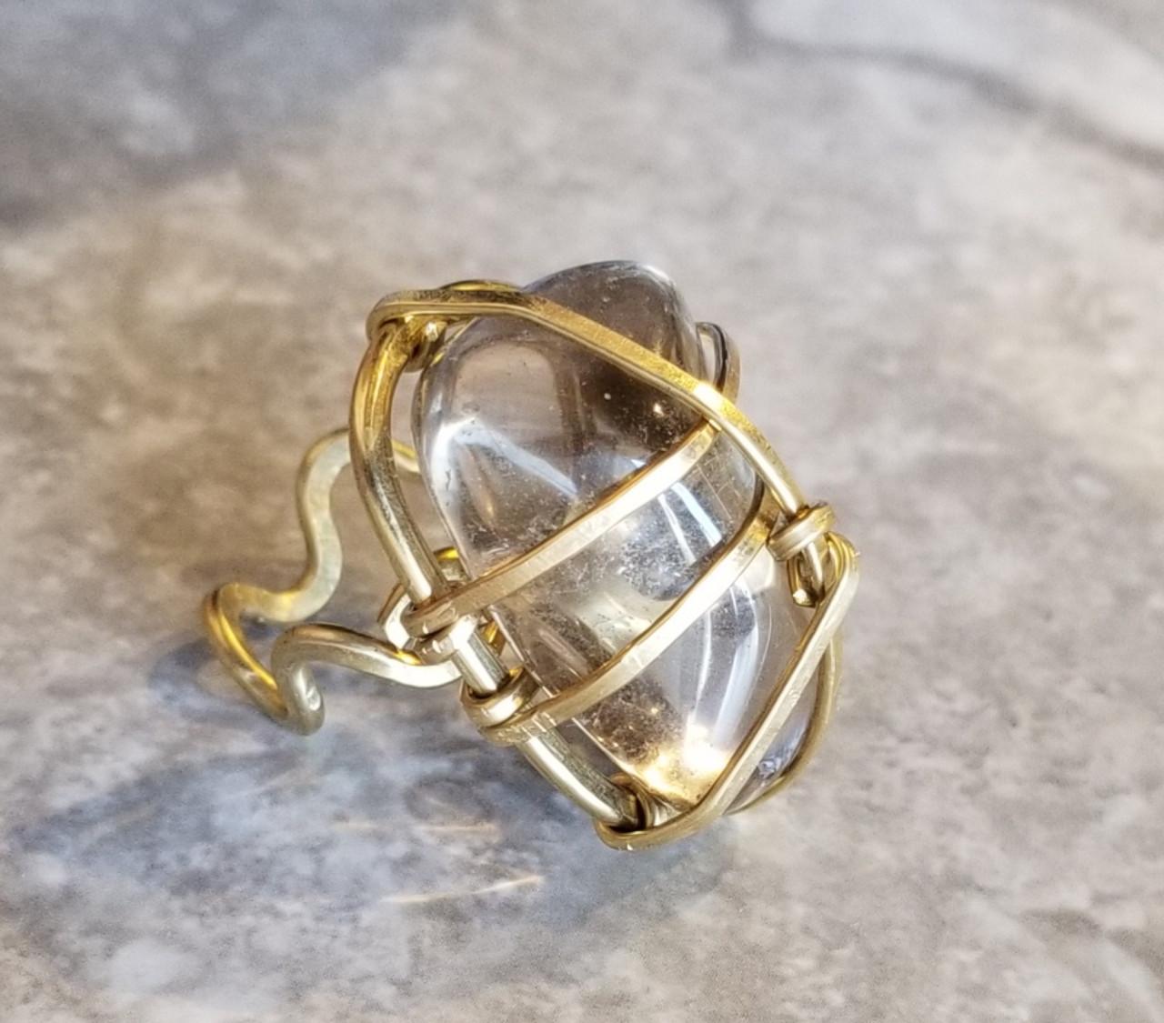 Smokey Quartz Ring -polished