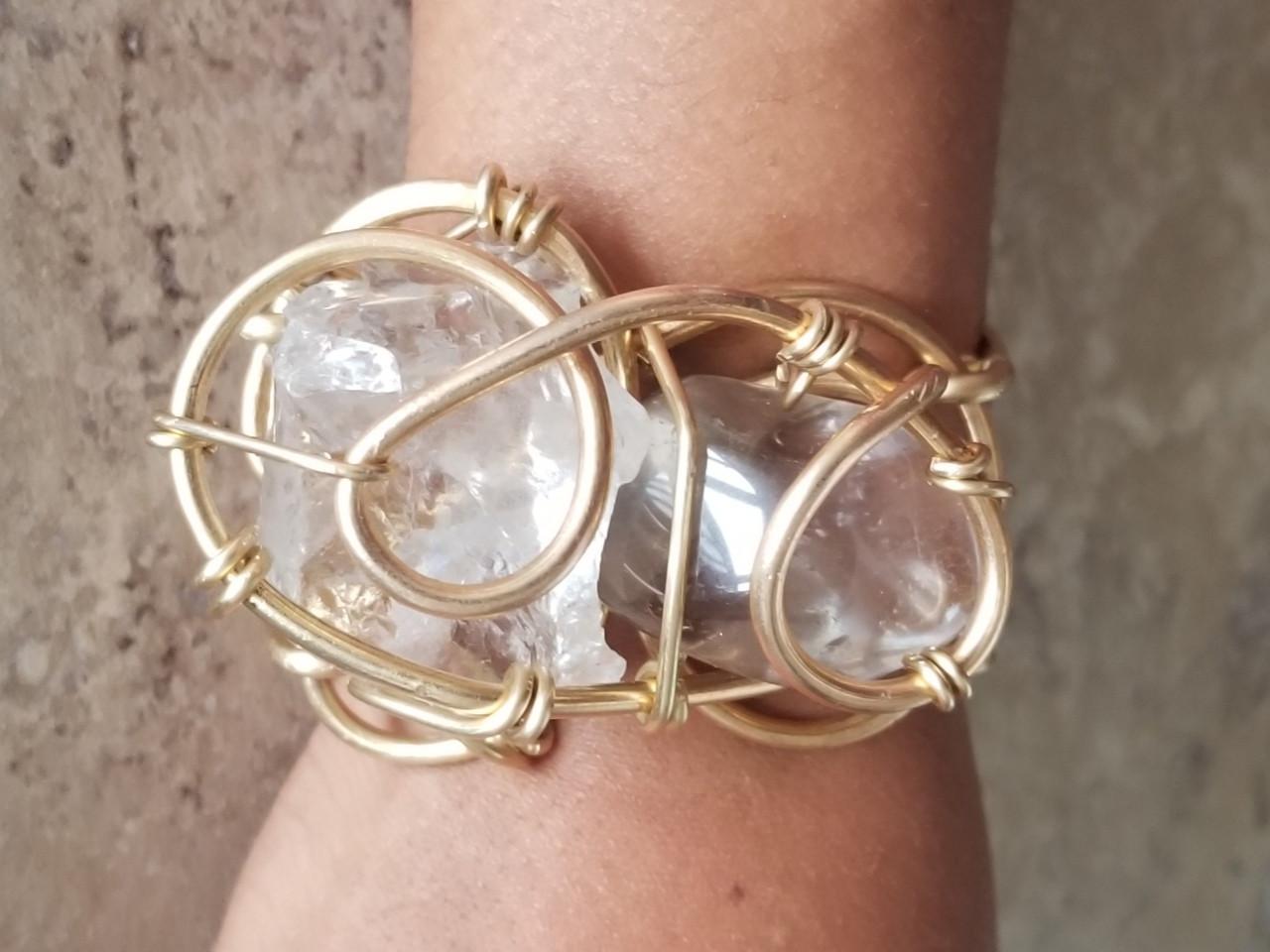 Smokey Quartz Galaxy Bracelet