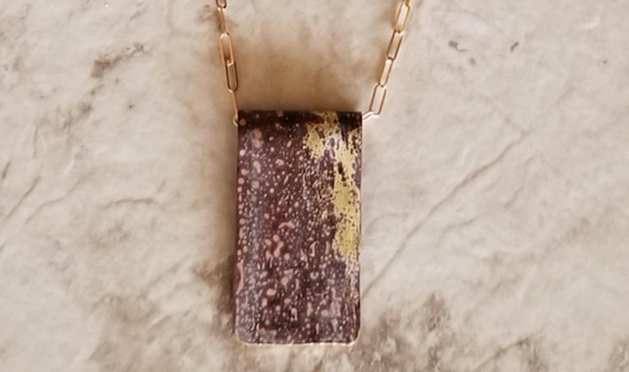 Bronze Patina Necklace