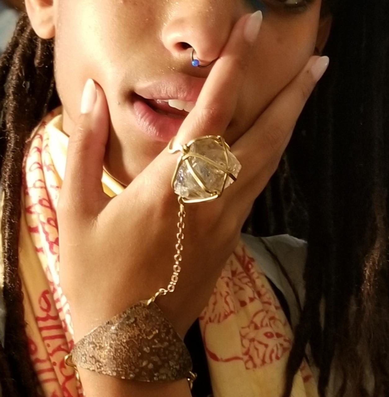 .Smokey Quartz Goddess Bracelet