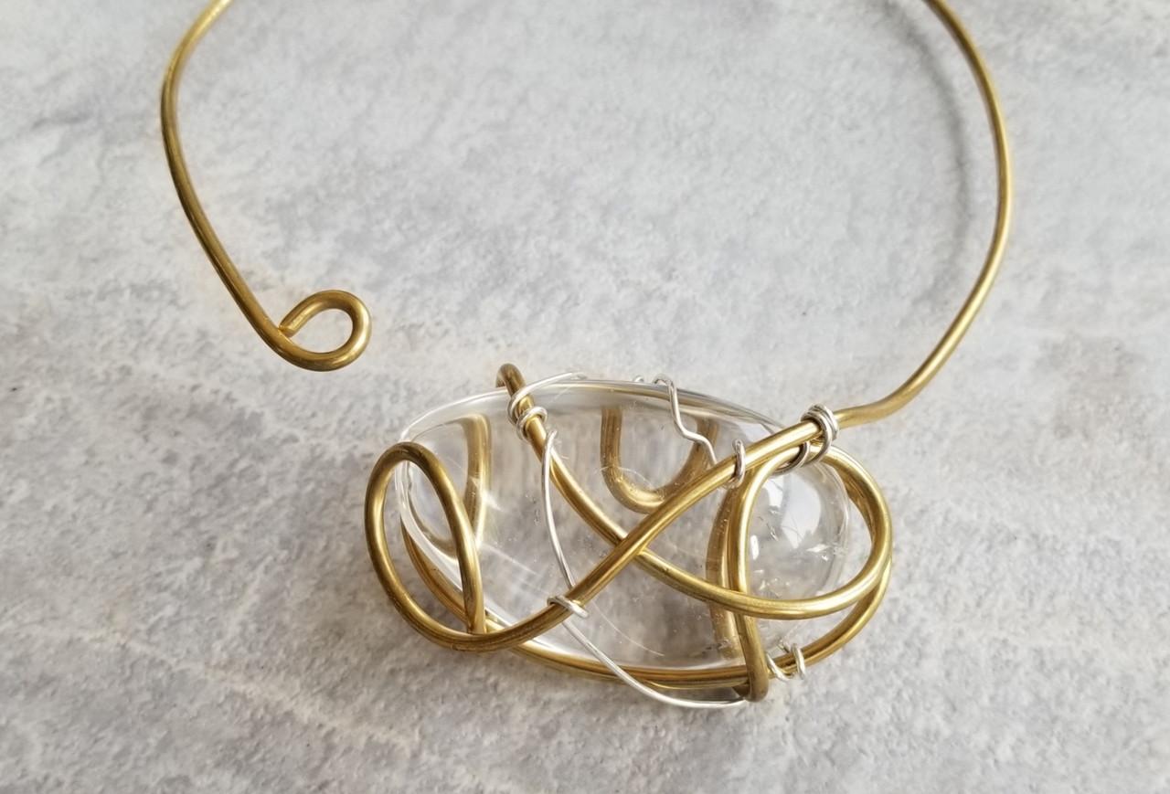 Herkimmer Diamond Quartz Galaxy Necklace