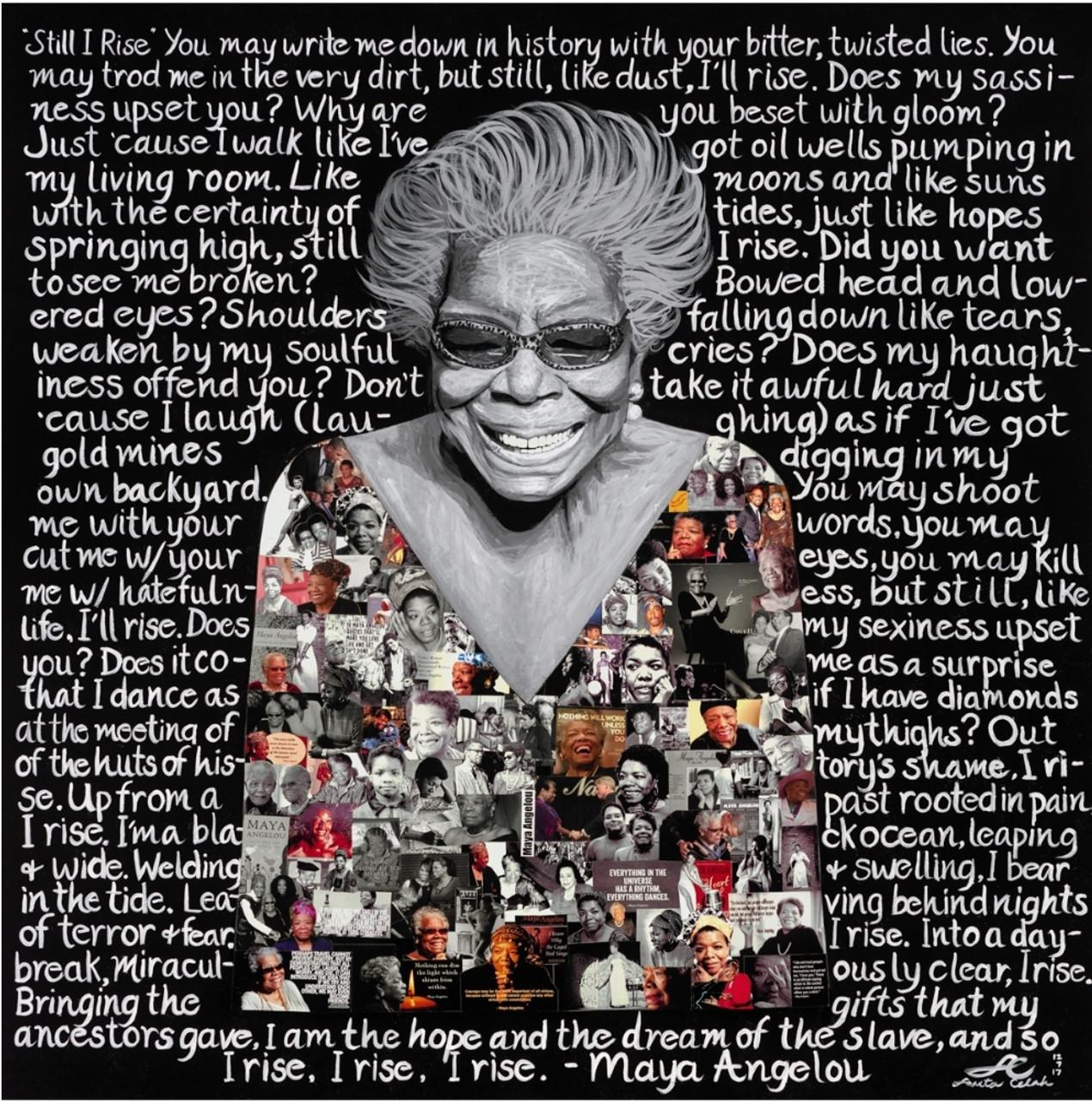 12 x 12 .Maya Angelou: Still I Rise Print