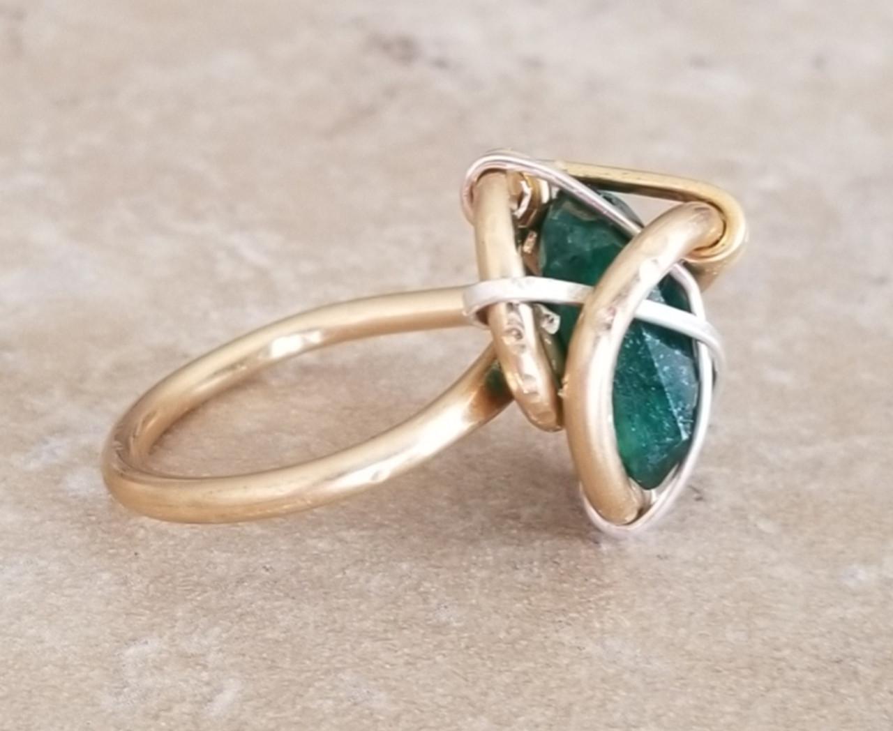 Emerald Galaxy Ring