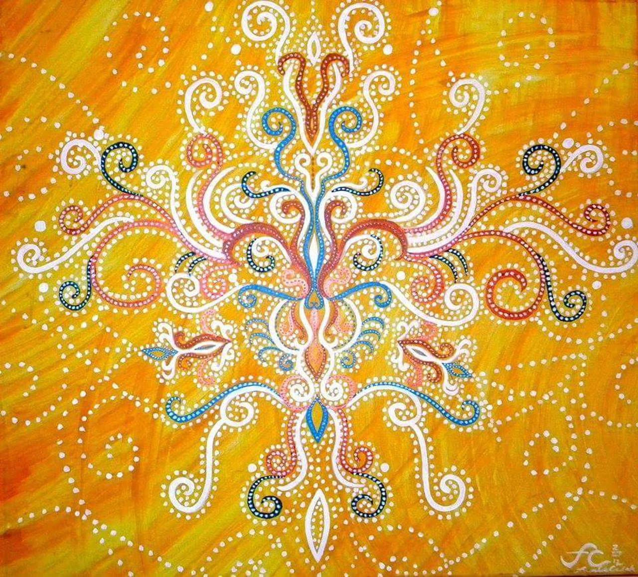 12 x 14 Cosmic Henna