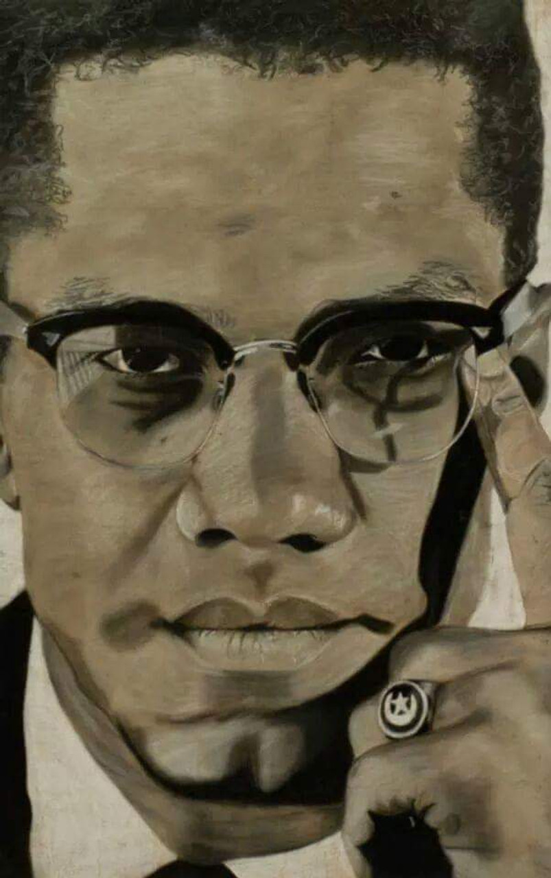 12 x 18 El hajj Malik el Shabazz: Malcolm X