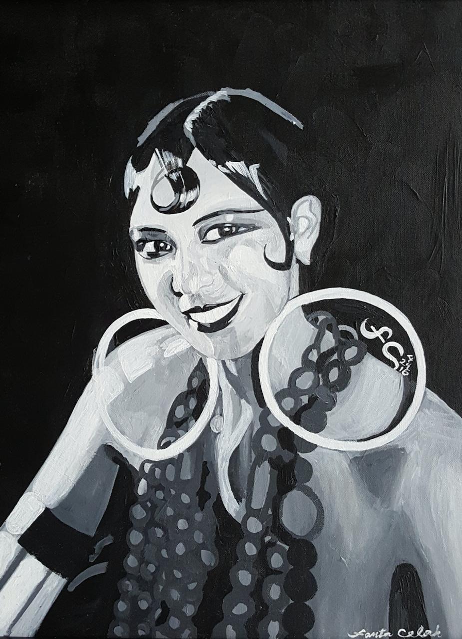 12 x 16 Josephine Baker III