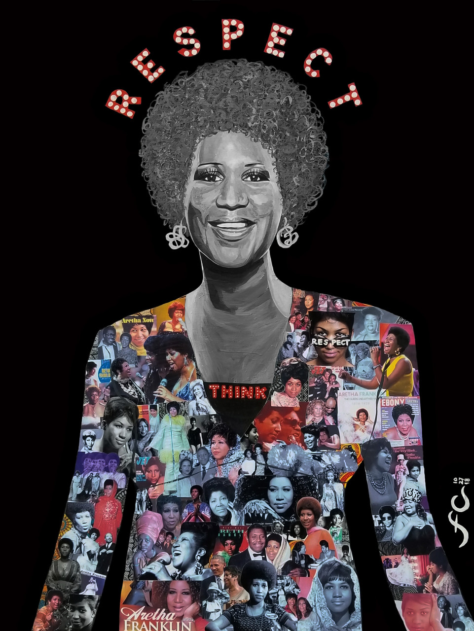 12 x 14 Aretha Franklin: The Queen of Soul