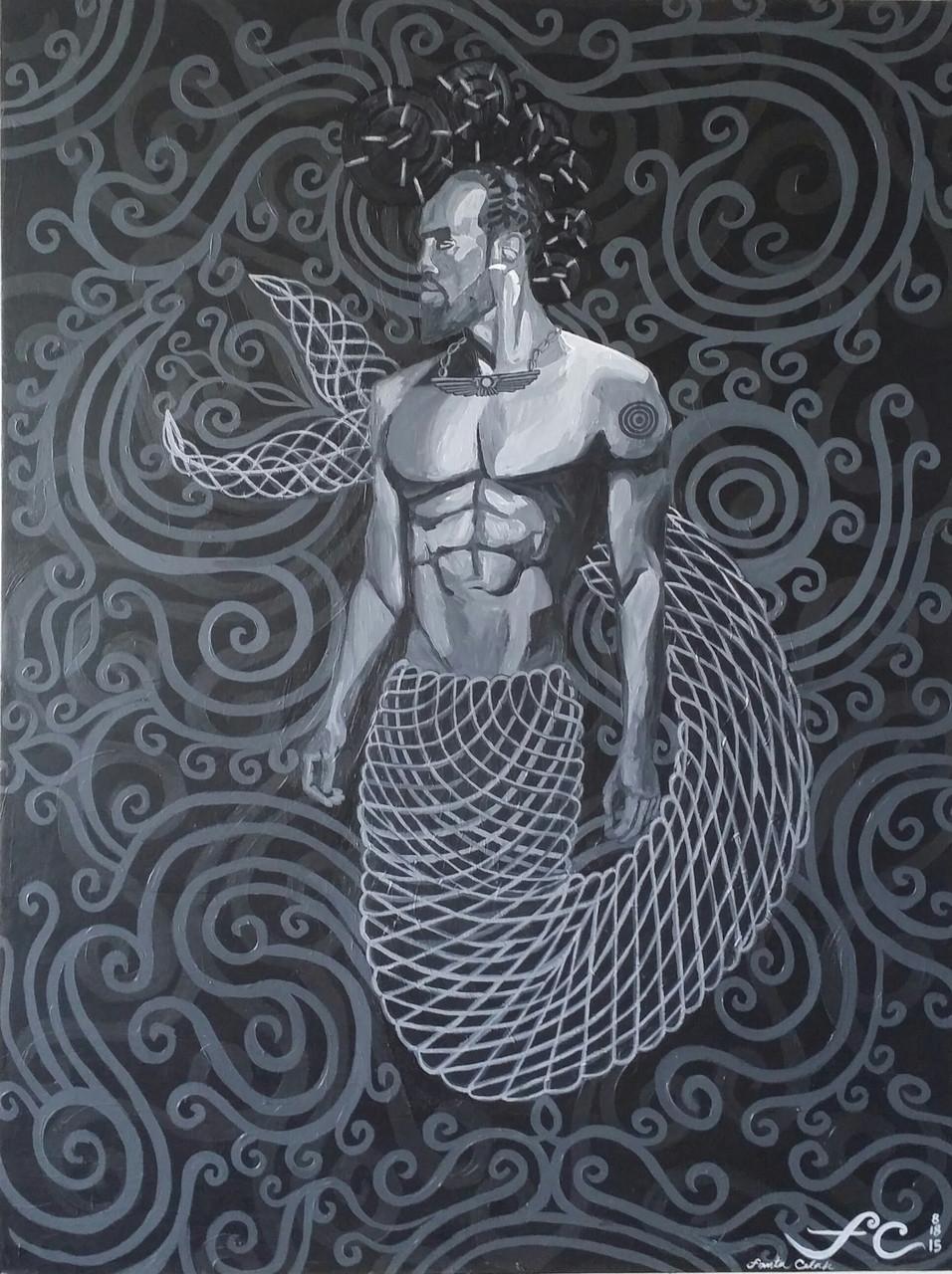 Primordial Beings II: Olukun (Merman)