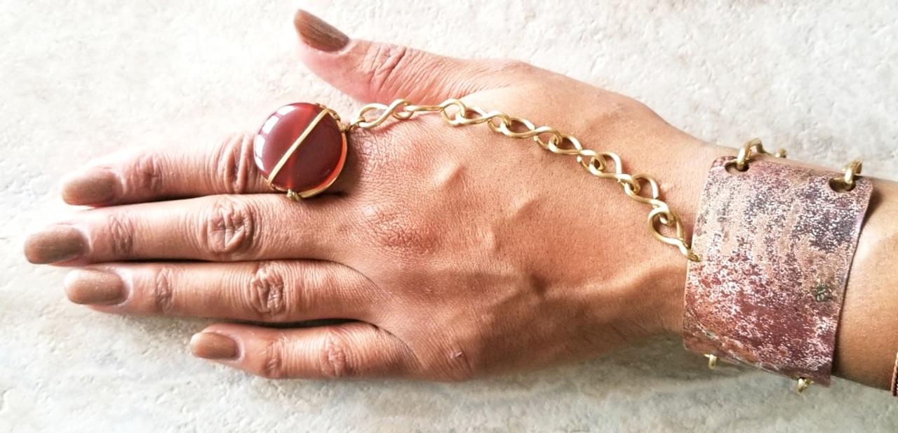 Carnelian Goddess bracelet