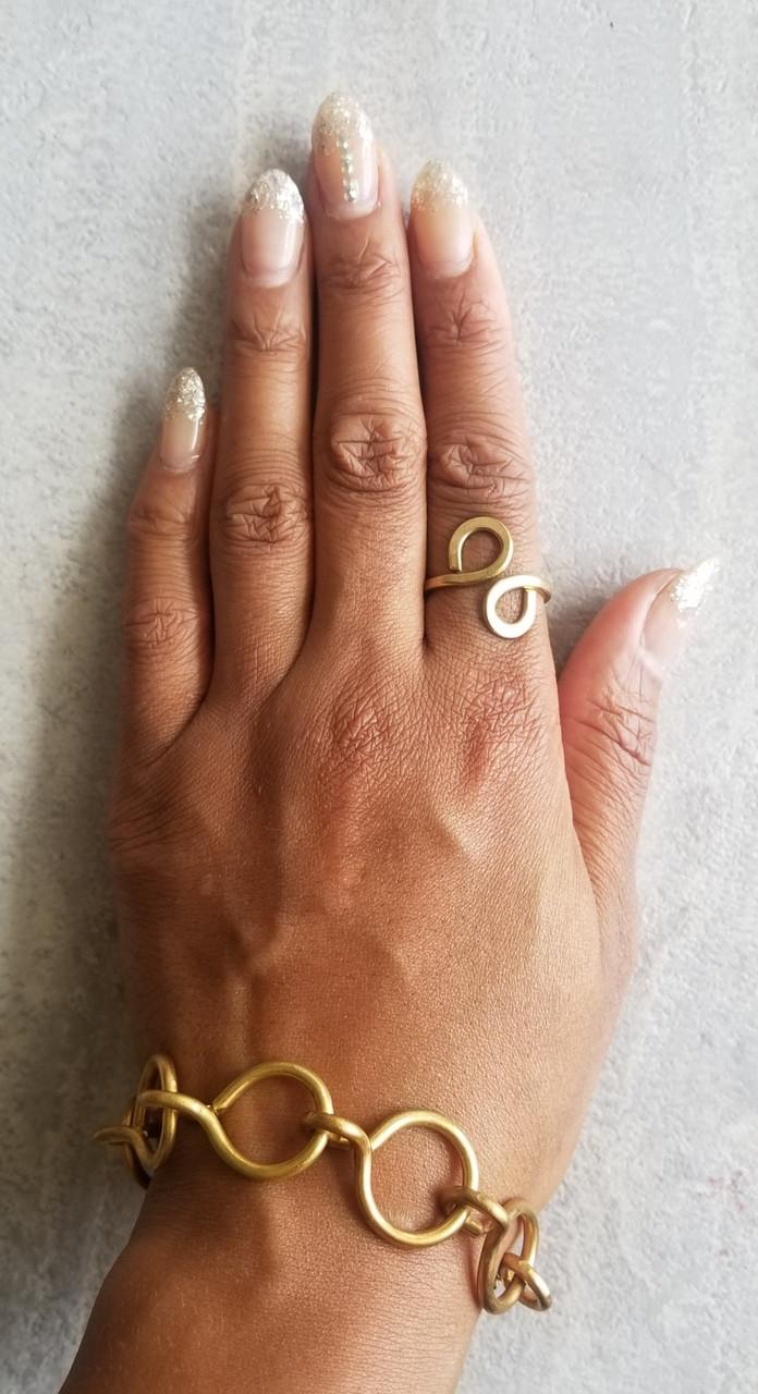 Bronze Funky Chain Bracelet
