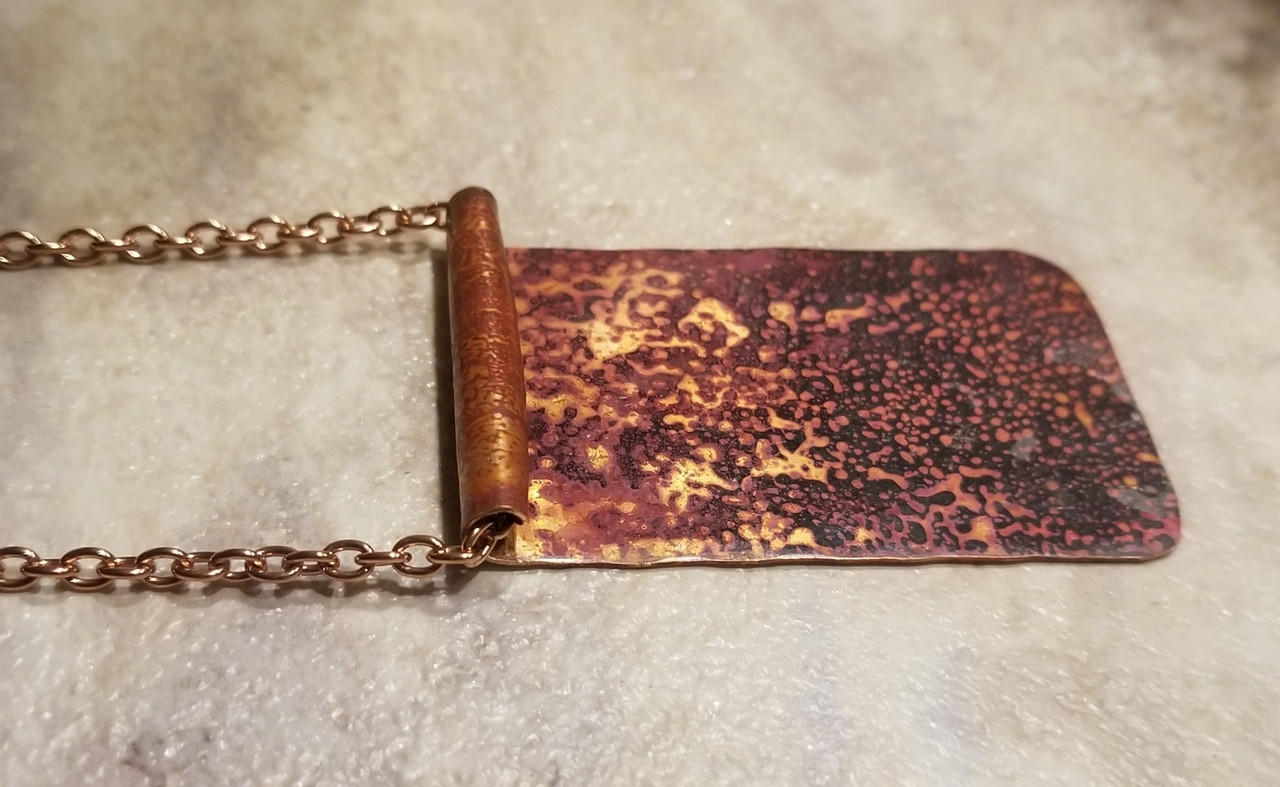 Copper Petina Pendant