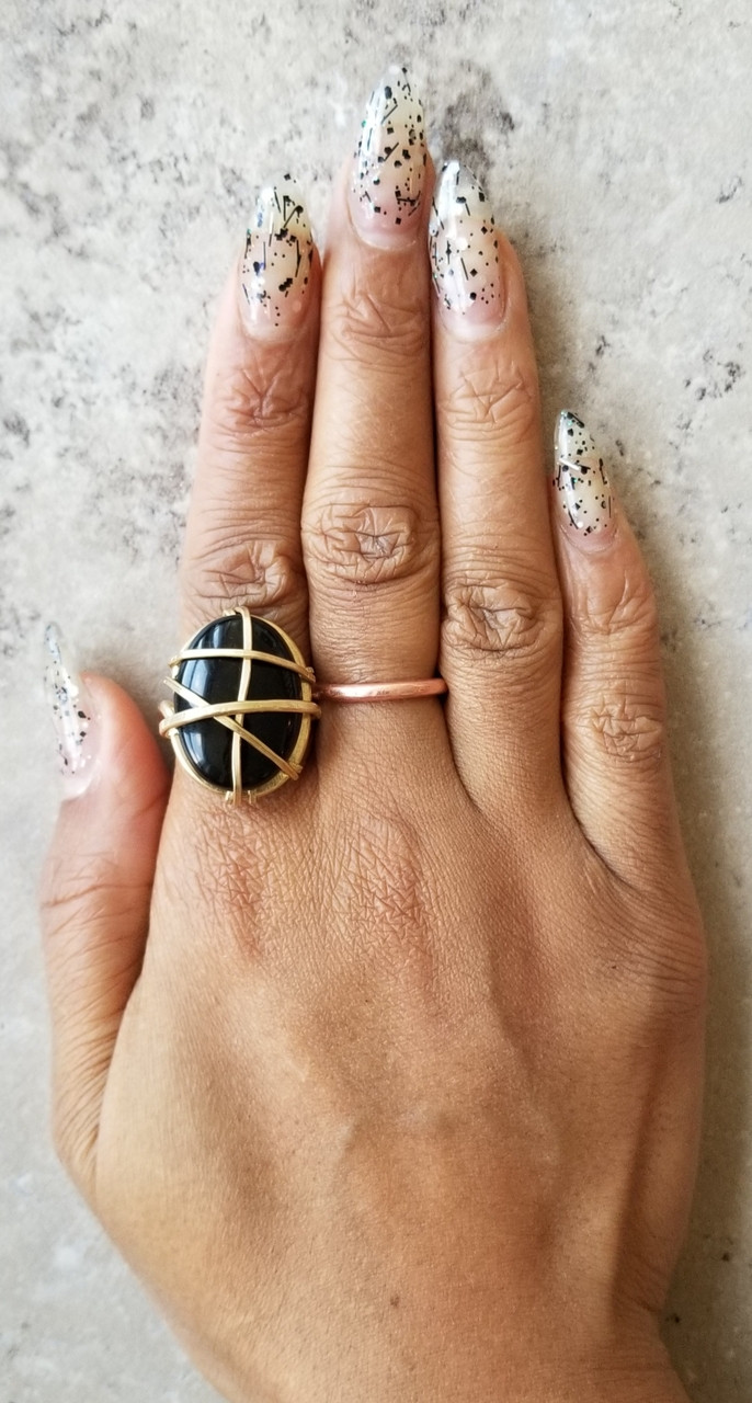 Onyx Oval Ring