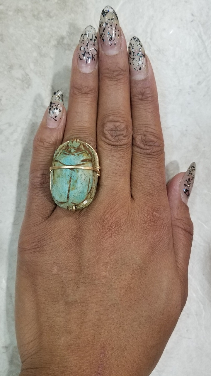 Bronze Scarab Ring