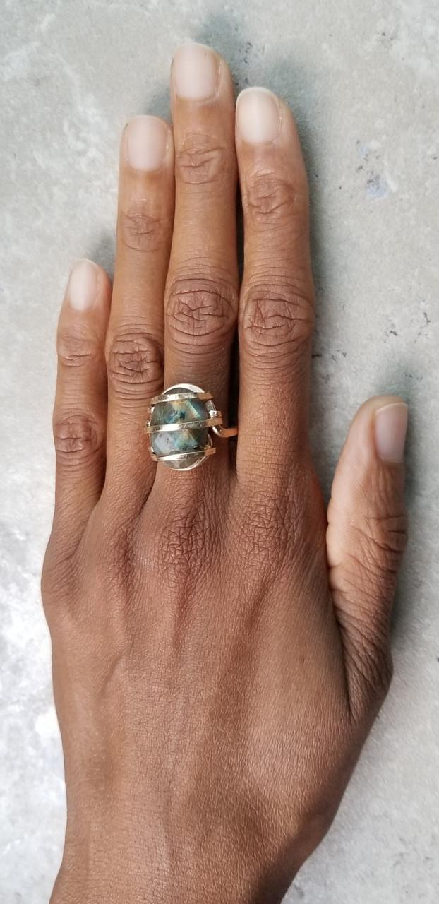 Labradorite Ring- Oval