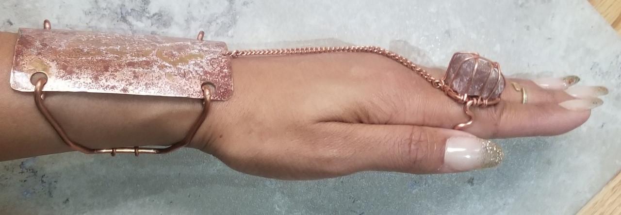 Pink moonstone Goddess Bracelet