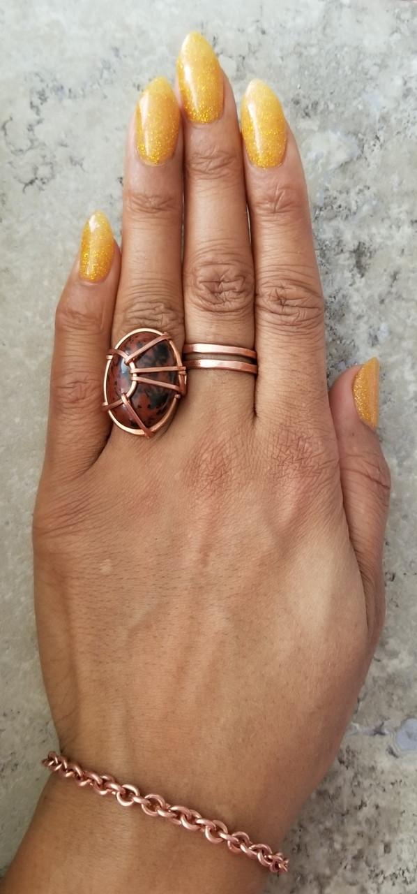 Mahogany Obsidian Oval Ring