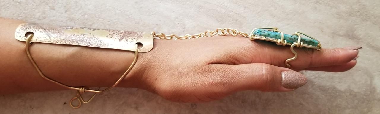 Blue Agate Goddess Bracelet
