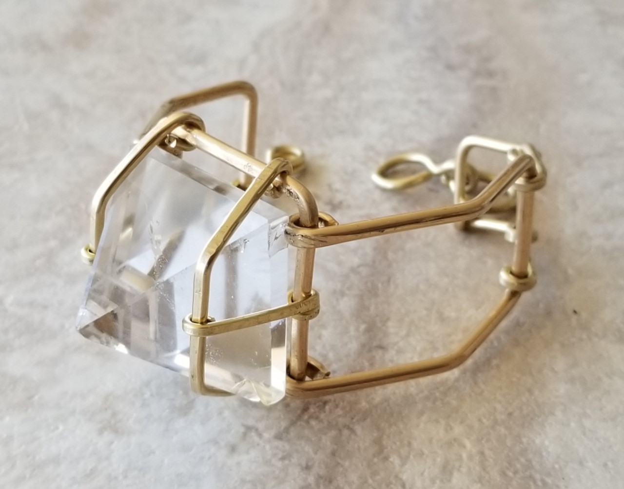 Crystal Quartz Pyramid Cuff