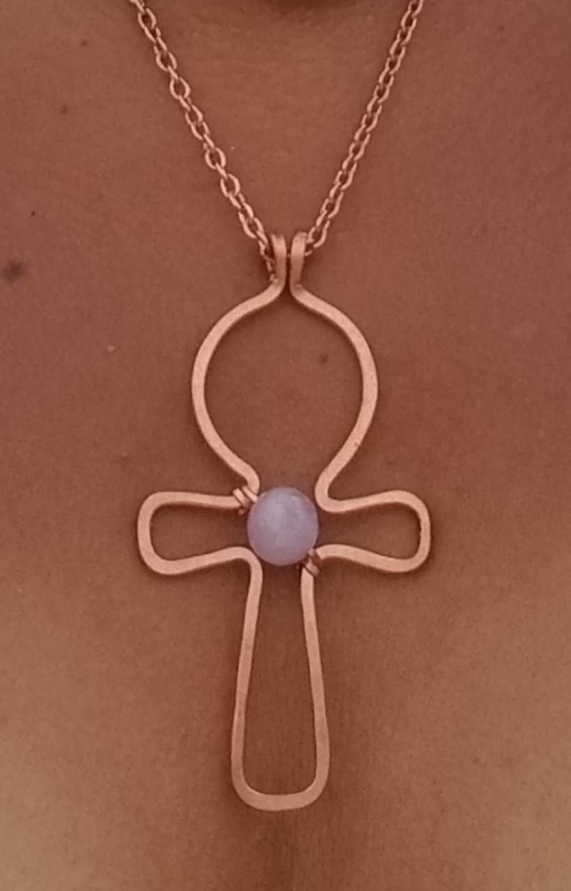 Crystal Ankh Necklace