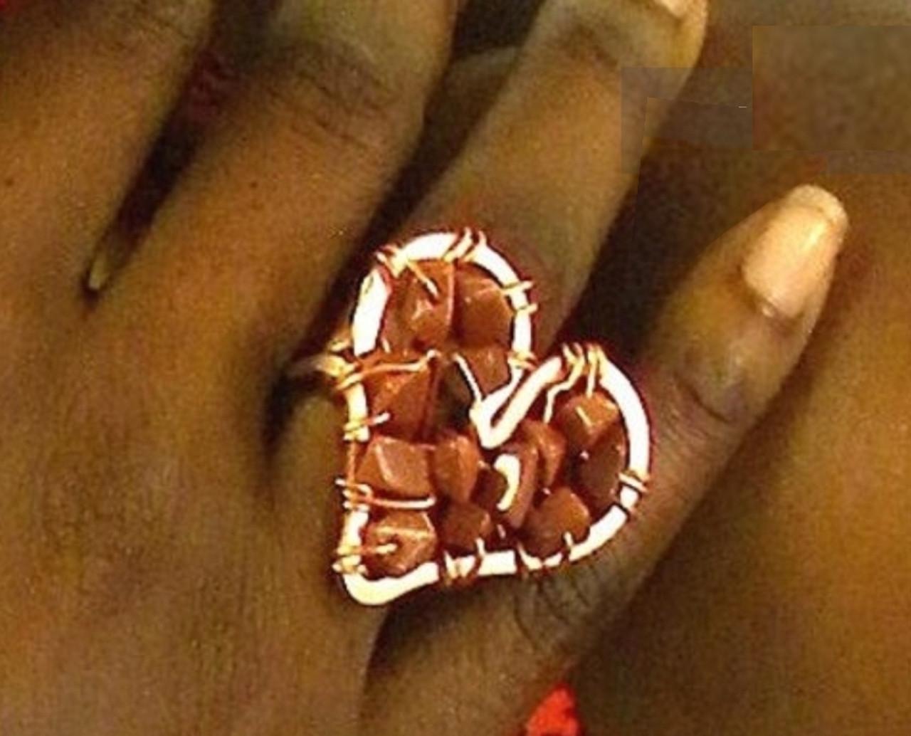Crystal Heart Ring: Medium
