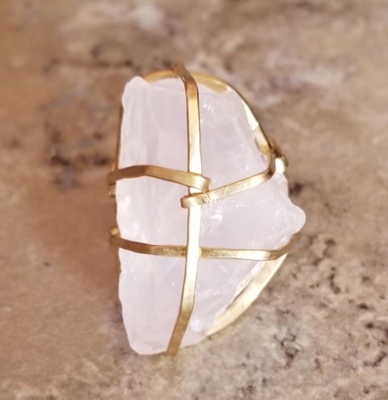 Raw Rose Quartz Ring