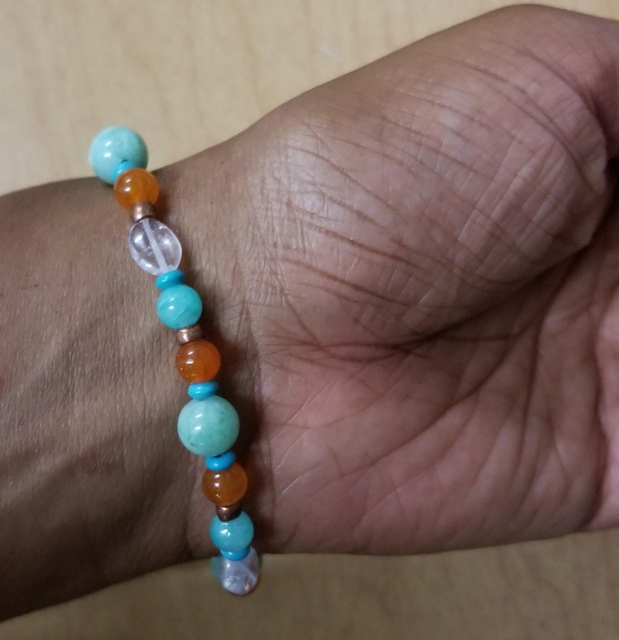 Crystal Scarab Beaded Bracelet