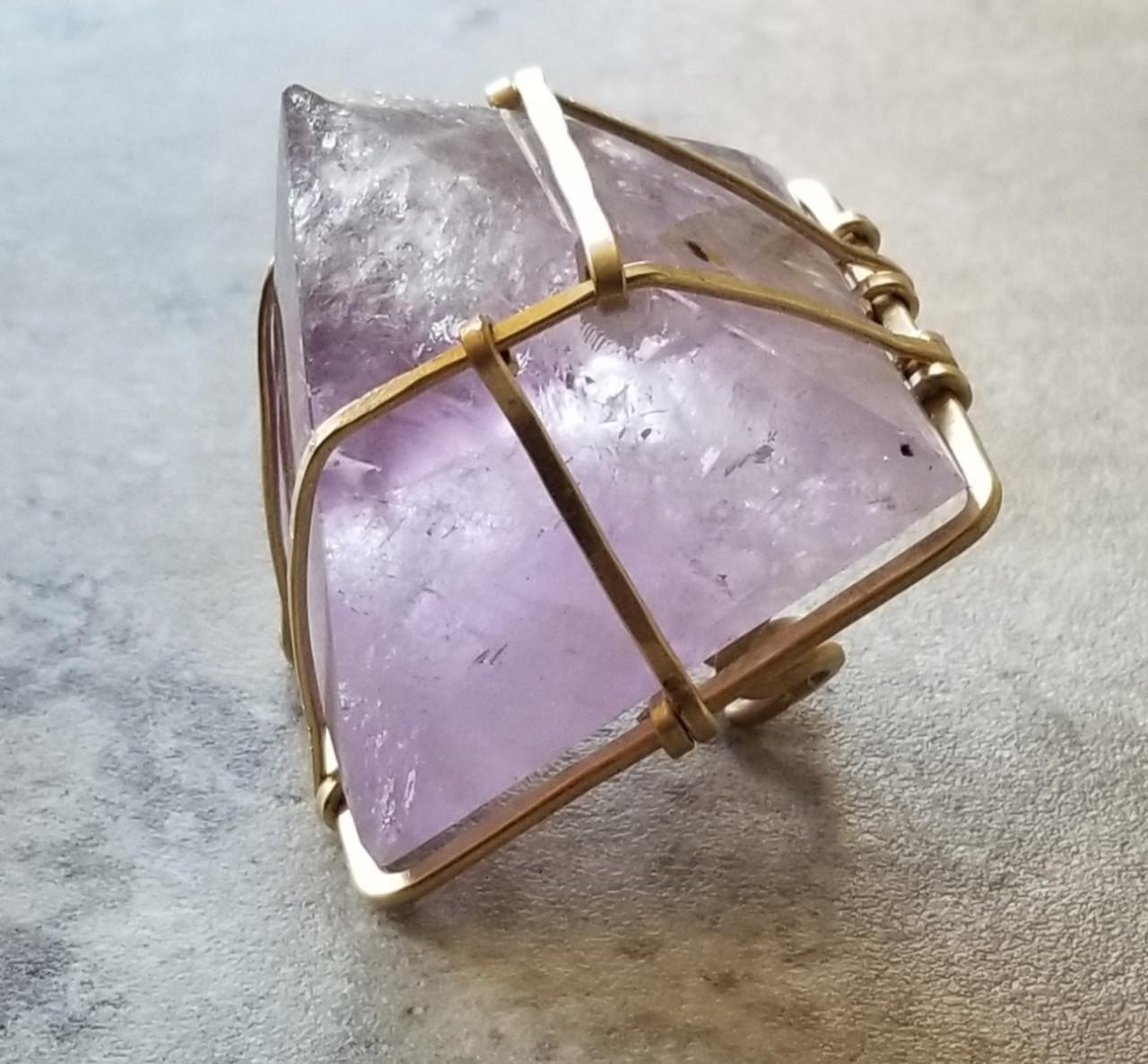 Clear Quartz XL Pyramid Ring