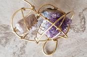 Amethyst, Quartz, & Lepidolite Galaxy Necklace