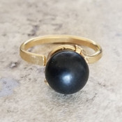 Pearl Shaped Crystal Ring