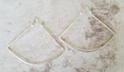 Silver Fan Hoops Lrg
