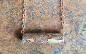 Patina Tube Necklace