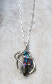 Rainbow Quartz galaxy necklace