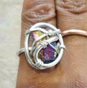 Rainbow Quartz Galaxy Ring sm