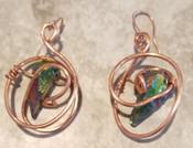 Rainbow Quartz galaxy earrings