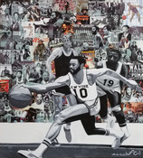 """12 x 16 Walt """"Clyde"""" Frazier"""