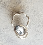 Silver Quartz Galaxy Ring